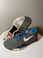 2012 Nike Zoom Kobe VII 7 System Sz 12 - Grey White Blue Fireberry - 488371 004