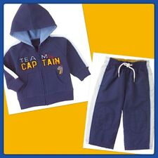 NWT 12-18 Gymboree VARSITY FOOTBALL blu 2pc HOODIE & Sweatpants Set TEAM CAPTAIN