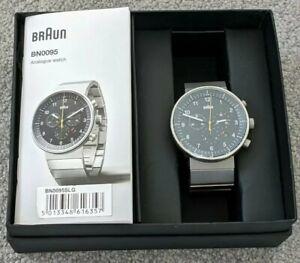 Braun BN0095 Prestige Watch - Silver Bracelet - New Battery