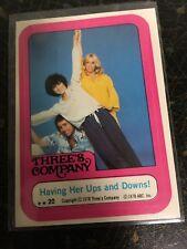 TOPPS 1978 THREE'S COMPANY FULL CAST STICKER CARD 20 JACK JANET CHRISSY