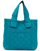 Marc Jacobs Bag Diamond Quilted Nylon Large Tote Peacock NEW $225
