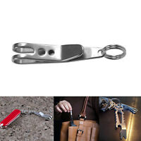 1XCarabiner Suspension Clip Hook with Keyring Outdoor Hiking-neue