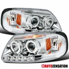97-03 F150/ 97-03 Expedition Chrome LED DRL Halo Projector Headlights