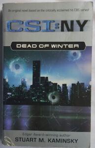 CSI: NY - DEAD OF WINTER - STUART M. KAMINSKY - PAPERBACK BOOK