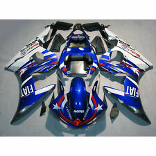 Blue White ABS Injection Fairing Body Work Kit For Yamaha YZF-R6 YZF R6 2005