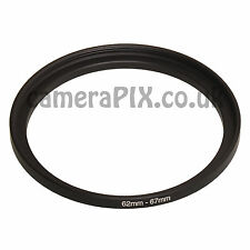 62mm to 67mm Male-Female Stepping Step Up Filter Ring Adapter 62-67 62mm-67mm UK