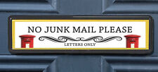 Letter Boxes Polite No Junk Mail Letterbox Leaflet Menus Flyers Door Sticker