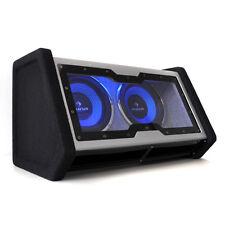 Car Subwoofer Speaker Audio Double LED Light Effect 2x 10 Inch Bass Box 2000W