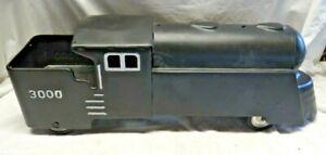 SUPER RARE Antique MARX 3000 Ride-on Locomotive Train Pressed Steel Toy