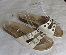 Birkenstock Ibiza Ladies White Sparkle Stud Mules Sandals UK Size 7 EU 40