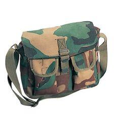 SALE! Vintage Style Camo Military Ammo Shoulder Bag Messenger Pack Travel Gear
