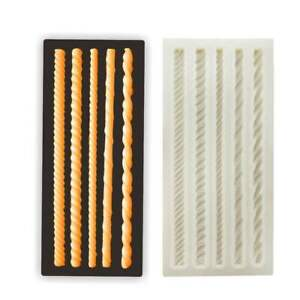 Rope Knitting Silicone Fondant Mold Chocolate Cake Bakeware Topper Border Mould