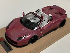 1/18 Ferrari 458 Spider Liberty Walk LB Performance Chameleon Pink N BBR / MR