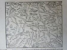 1568 ALLGAU Cosmographia universalis Munster Allgäu Deutschland Germany