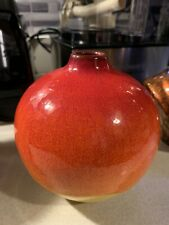 """Crate And Barrel """"Roy"""" Decorative Vase NWT Beautiful Two Tone"""