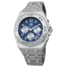50 m (5 ATM) Armbanduhren aus Edelstahl mit 24-Stunden-Zifferblatt für Herren
