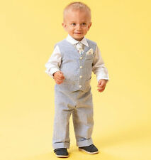 Sewing Pattern! Make Baby Boy Shirt~Shorts~Pants~Vest~T ie! Size Newborn~24 Lbs!