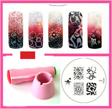 Konad Stamping Nail Art Multi New stamper And Scraper+ M85 Image Plate