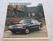 Vintage 1987 Ford THUNDERBIRD Color Sales Catalog Brochure Automobile Car Auto