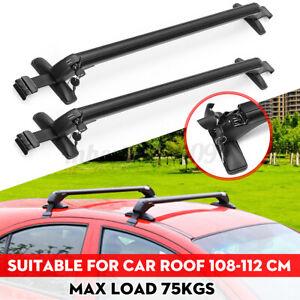 2X 110-114cm Universal Car Top Roof Rack Cross Tube Bars Cargo Luggage Carrier