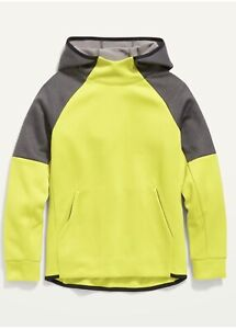 Old Navy Boys Color Block Techie Fleece Pullover Hoodie Size Medium, Large or XL