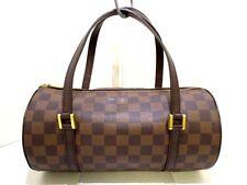 Auth LOUIS VUITTON Papillon 26 N51304 Ebene Damier Canvas Handbag