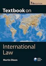 Textbook on International Law by Martin Dixon (Paperback, 2013)