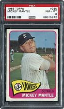 1965 TOPPS #350 MICKEY MANTLE PSA 8 NM-MT