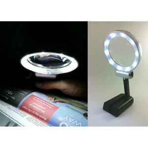 3X LED Lighted Foldable Magnifier with LED Llights for Reading Watch Repair