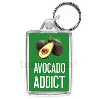 Avocado Addict Keyring Funny Joke Gift Key Fob Keychain | Medium Size