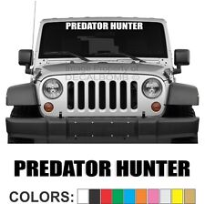 Predator Hunter Windshield Decal Sticker Turbo Truck Diesel Coyote Bear Lion