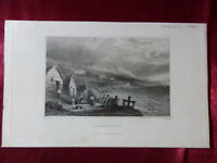 Antique engraving of PUCKASTER COVE, ISLE OF WIGHT c1830 Very rare art print