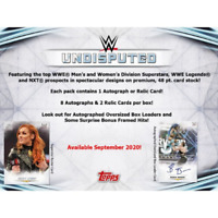 2020 TOPPS WWE UNDISPUTED FACTORY SEALED HOBBY BOX PRESALE FREE SHIPPING