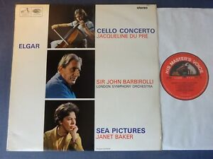 ED1 ELGAR: CELLO CONCERTO / SEA PICTURES LP, LSO, Jacqueline Du Pre, EMI ASD 655