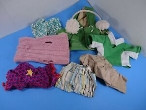 Webkinz clothing lot Parka, shorts, sweater, shirts, ear muffs