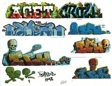 G SCALE GRAFFITI DECALS G01 FROM REAL GRAFFITI PHOTOS ICH ICHABOD