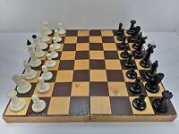 1970s Soviet Wooden Board Carbolite Chess Set USSR VINTAGE Russian Original