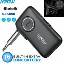 Mpow CSR Wireless Car Bluetooth 5.0 Receiver AUX 3.5mm Stereo Music Adapter Mic