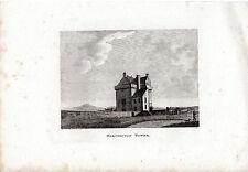 ANTIQUE SCOTTISH Print-marchiston Tower-Samuel Hooper Copperplate (1790)