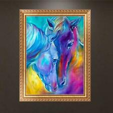 Horses DIY 5D Full Diamond Embroidery Painting Cross Craft Stitch Kit Home Decor