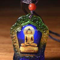 Tibet Buddha Statue  Sakyamuni God Necklace Amulet  Blessed Glass Buy 2 Get 1