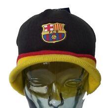 Fc Barcelona Beanie Visor Black New 2014-2015 Winter Skull CAP [Sport]