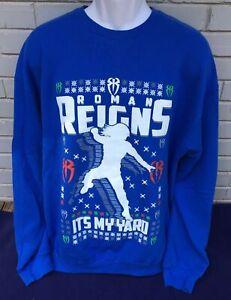 WWE Wrestling ROMAN REIGNS It's My Yard Ugly Christmas Sweatshirt Men's Size XXL