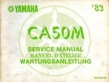 Yamaha CA50M 1982 1983 Service Manual 20H-28197-80