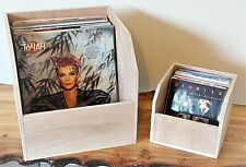 Pair of Hand made Record Storage Boxes 12inch and 7inch Vinyl holder
