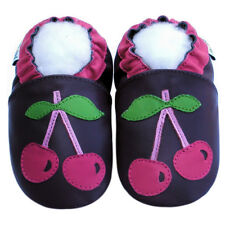 Littleoneshoes(Jinwood) Gift Soft Sole Leather Cherry Purple Baby Shoes 18-24M