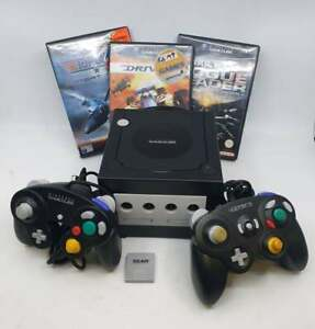 Nintendo Gamecube (DOL-001) All Leads, 2 Controllers, Games, Memory Card
