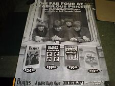 The Beatles Movies Promo 35 x 22 Poster Vg