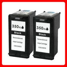 2 Black unbrand Fits  hp 350XL Deskjet D4200 D4245 D4260 Black Ink Cartridge