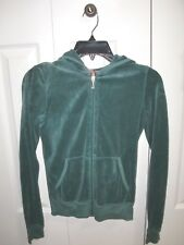Juniors~JUICY COUTURE~Green Full Zip Jacket Logo Size S(10-12). SUPER CUTE!